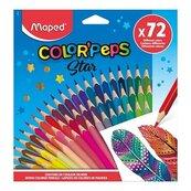 Kredki Colorpeps trójkątne 72 kolory