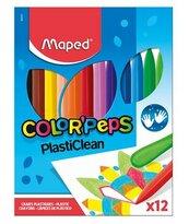 Kredki Colorpeps plastikowe 12 kolorów MAPED