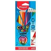 Kredki Colorpeps Strong trójkątne 12 kolorów