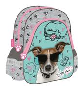 """Plecak szkolno-wycieczkowy 12"""" trójkątny My Little Friend Pies CACA"""
