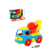 Polesie 84804 Klocki-transport Samochód betoniarka 29 elelmentów w pudełku