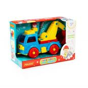 Polesie 84835 Klocki-transport Samochód koparka 34 elelmenty w pudełku