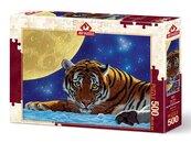 Puzzle 500 Tygrys i księżyc