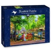 Puzzle 1000 Czerwony rower w Amsterdamie