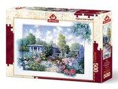 Puzzle 500 Domek letniskowy z pięknym ogrodem