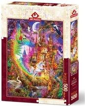 Puzzle 500 Tęczowy zamek