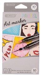 Marker artystyczny dwustronny 10 kolorów Pastel