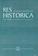 Res Historica T.35