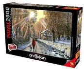 Puzzle 2000 Zima w lesie