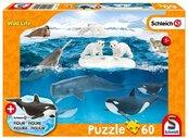 Puzzle 60 Schleich zycie na Arktyce + figurka