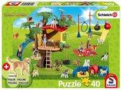 Puzzle 40 Schleich Szczęśliwe psy