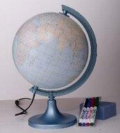 Globus konturowy z objaśnieniem podświetlany 25 cm