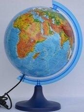 Globus fizyczny podświetlany 25 cm
