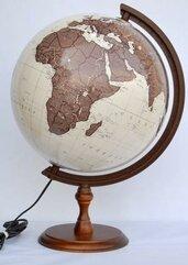 Globus antyczny podświetlany 32 cm
