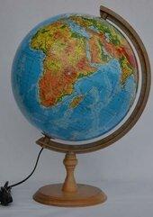 Globus fizyczny podświetlany 32 cm