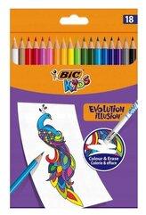 Kredki ołówkowe Kids Evolution Illusion 18 kol BIC
