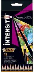Kredki ołówkowe Inensity Premium 12 kolorów BIC