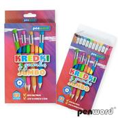 Kredki ołówkowe Jumbo z gumką 12 kolorów 2666-12-G