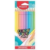 Kredki Colorpeps pastel trójkątne 12 kolorów