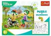 Puzzle 24 + kolorowanka Rodzina Treflików TREFL