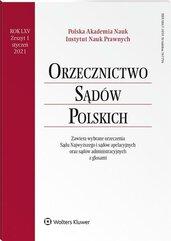 Orzecznictwo Sądów Polskich 1/2021