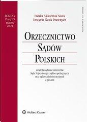 Orzecznictwo Sądów Polskich 3/2021