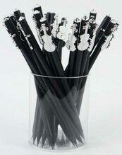 Ołówek czarny ze skrzypcami białymi