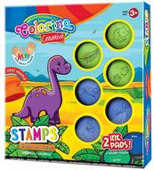 Zestaw stempelków DINO 6 szt Colorino Kids