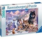 Puzzle 2000 Wilki w śniegu