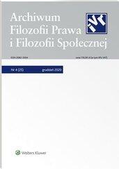 Archiwum Filozofii Prawa i Filozofii.. 4/2020 [25]