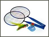 Badminton metalowy z lotką i piłeczką w siatce HIPO