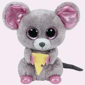 TY BEANIE BOOS SQUEAKER - mysz z kawałkiem sera 15cm 36192