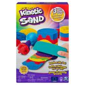 Kinetic Sand Piasek kinetyczny 383g Zestaw Tęczowych narzędzi