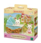SYLVANIAN Zestaw z bliźniakami królików z czekoladowymi uszkami (wózek dziecięcy) 05432