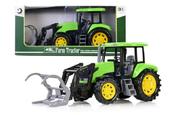 Traktor z podnośnikiem 43cm zielony 159640