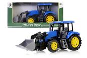 Traktor z podnośnikiem 43cm niebieski 159626