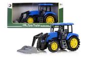 Traktor z podnośnikiem 43cm niebieski 159633