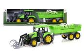 Traktor z przyczepą 79cm zielony 159657