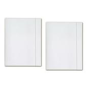 Teczka z gumką A4 biała papier. 300g p25 STK