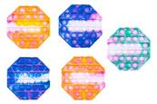 PROMO Zabawka sensoryczna antystresowa gniotek POP IT Bubble Oktagon mozaika 1005218 mix kolorów cena za 1 szt