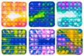 PROMO Zabawka sensoryczna antystresowa gniotek POP IT Bubble Kwadrat mozaika 1005217 mix kolorów cena za 1 szt
