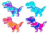 PROMO Zabawka sensoryczna antystresowa gniotek POP IT Bubble Dinozaur mozaika 1005219 mix kolorów cena za 1 szt