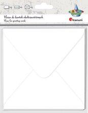 Papeteria 14x14cm biała 5 kopert + 5 kart