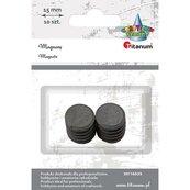 Magnesy okrągłe czarne 15mm 10szt