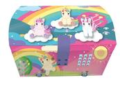 Pudełko na biżuterię z kodem i efektami świetlnymi Sweet Dreams Jednorożce KL10868 Kids Euroswan