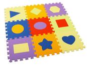 Mata puzzle piankowe kształty BPUZ0935