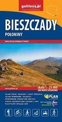 Mapa turystyczna - Bieszczady Połoniny 1:25 000