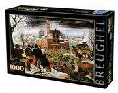 Puzzle 1000 Brueghel, Cztery pory roku - Zima
