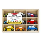 MELISSA Samochody osobowe drewniane zestaw 13178