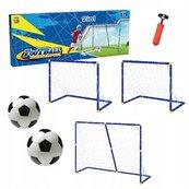 Zestaw 2 bramek z akcesoriami do piłki nożnej